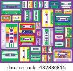 collection of retro colored... | Shutterstock .eps vector #432830815