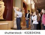 pupils and teacher on school... | Shutterstock . vector #432834346