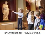 pupils and teacher on school... | Shutterstock . vector #432834466