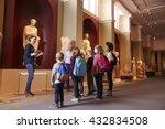 pupils and teacher on school... | Shutterstock . vector #432834508