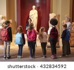 pupils and teacher on school... | Shutterstock . vector #432834592