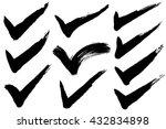 check mark.  hand drawn...   Shutterstock .eps vector #432834898