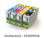 cmyk cartridges for colour... | Shutterstock . vector #432839656