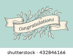 greeting card with inscription... | Shutterstock .eps vector #432846166