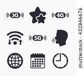 mobile telecommunications icons.... | Shutterstock .eps vector #432846676
