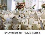 luxury restaurant is prepared... | Shutterstock . vector #432846856