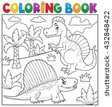 coloring book dinosaur topic 7  ... | Shutterstock .eps vector #432848422