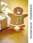gingerbread man cookie with... | Shutterstock . vector #432856642