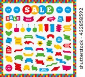 banners  sale stickers and sale ...   Shutterstock .eps vector #432858592