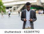 african businessman using... | Shutterstock . vector #432859792