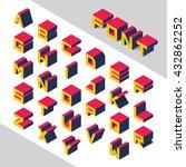 isometric 3d type font set.... | Shutterstock .eps vector #432862252