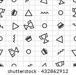 memphis seamless pattern | Shutterstock .eps vector #432862912