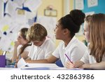a row of primary school... | Shutterstock . vector #432863986