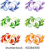 abstract multi colored design... | Shutterstock .eps vector #43286500