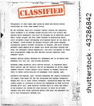 classified document template | Shutterstock .eps vector #43286842