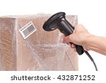 scanning boxes with barcode... | Shutterstock . vector #432871252