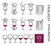 set of icons for wine tasting.... | Shutterstock .eps vector #432878365