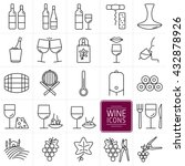 set of icons of wine. icons... | Shutterstock .eps vector #432878926