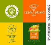 set of  logos detox drink  diet ... | Shutterstock . vector #432900832
