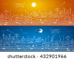 airport panorama  aircraft on... | Shutterstock .eps vector #432901966