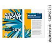 annual report cover template... | Shutterstock .eps vector #432907345