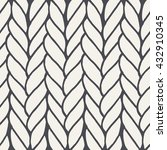 decorative knitting braids... | Shutterstock . vector #432910345