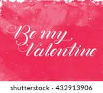 watercolor valentines day card. ...   Shutterstock .eps vector #432913906