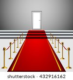 red carpet leading to the... | Shutterstock .eps vector #432916162