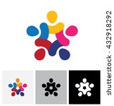vector icon of people together  ... | Shutterstock .eps vector #432918292