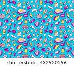 graffiti seamless pattern with... | Shutterstock . vector #432920596
