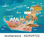 uae travel concept map with... | Shutterstock . vector #432929722