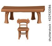 A Set Of Wooden Furniture. The...