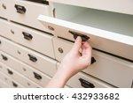 woman opening mailbox | Shutterstock . vector #432933682