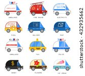 set of special purpose cars. it ... | Shutterstock .eps vector #432935662