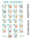 cute zoo alphabet. funny...   Shutterstock .eps vector #432937552