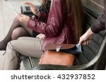 street thief stealing a wallet... | Shutterstock . vector #432937852