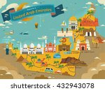uae travel concept map with... | Shutterstock .eps vector #432943078