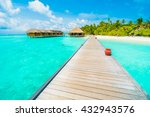 beautiful tropical beach and... | Shutterstock . vector #432943576