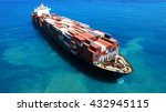 large container ship at sea  ... | Shutterstock . vector #432945115