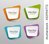 abstract vector banners set | Shutterstock .eps vector #432954772