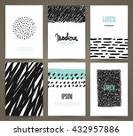 set of brochures with hand... | Shutterstock .eps vector #432957886