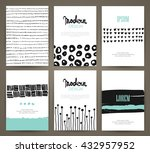 set of brochures with hand... | Shutterstock .eps vector #432957952