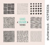 set of hand drawn textures and... | Shutterstock .eps vector #432958336
