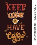 vintage poster of coffee... | Shutterstock .eps vector #432967372