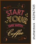 vintage poster of coffee... | Shutterstock .eps vector #432967435