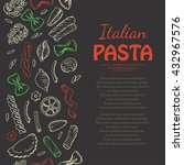 vertical pattern with italian...   Shutterstock .eps vector #432967576