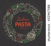 vector round frame of italian... | Shutterstock .eps vector #432967588