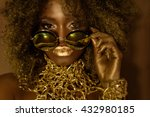 close up of magic golden... | Shutterstock . vector #432980185