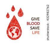 world blood donor day banner... | Shutterstock . vector #432982762