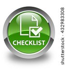 checklist glossy soft green...   Shutterstock . vector #432983308
